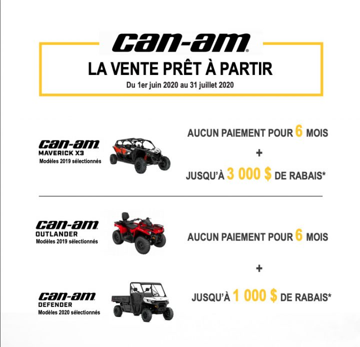 Can-Am – La vente prêt à partir