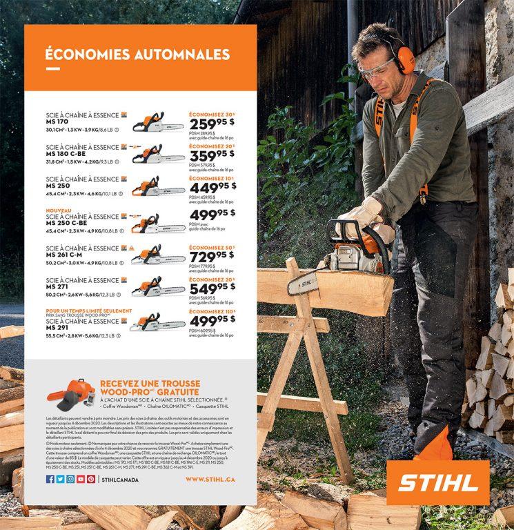 Stihl – Économies Automnales
