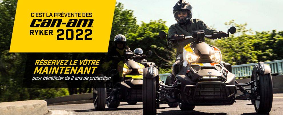 C'est le temps des pré-commandes 2022, choisissez votre Ryker chez Jean-Morneau!